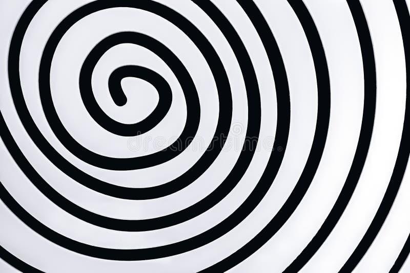 Espiral branca simples no fundo preto ilustração do vetor