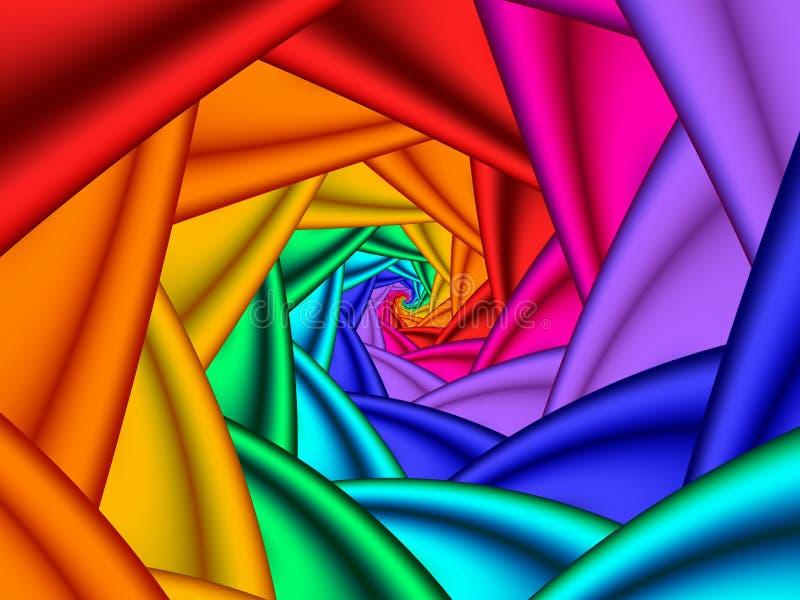 Espiral brillante stock de ilustración