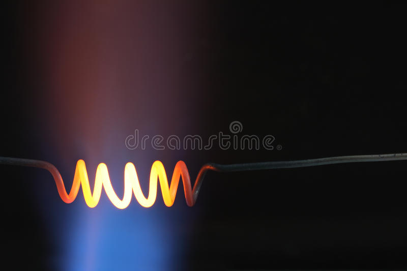 Espiral candente fotos de archivo