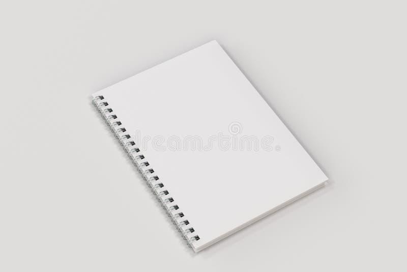 Espiral cerrado del cuaderno - limite en el fondo blanco ilustración del vector