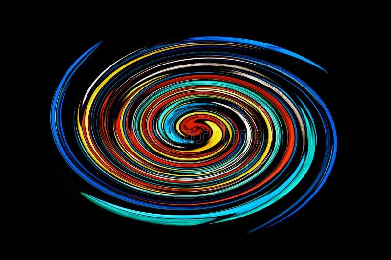 Espiral colorido stock de ilustración