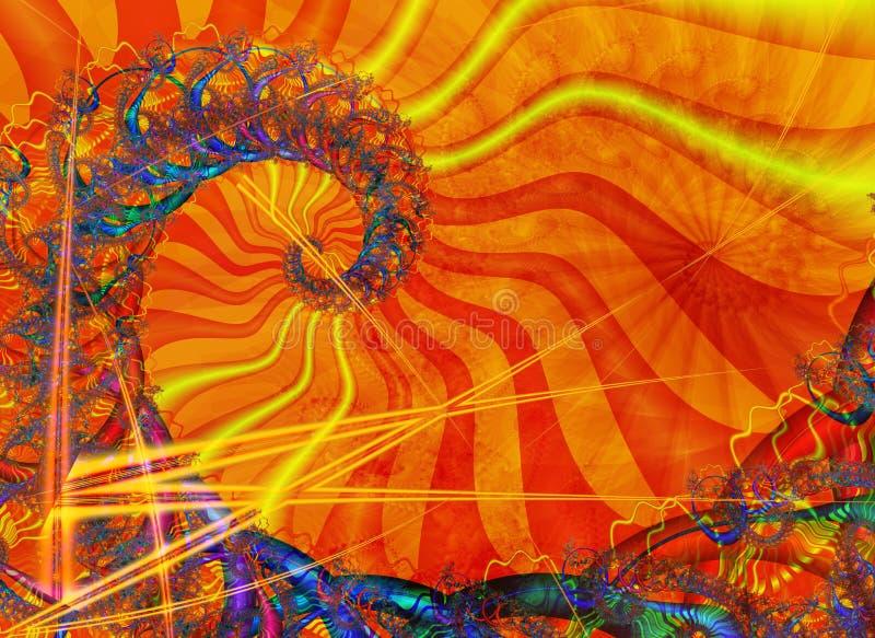 Espiral Con El Colorante Asoleado Fotografía de archivo