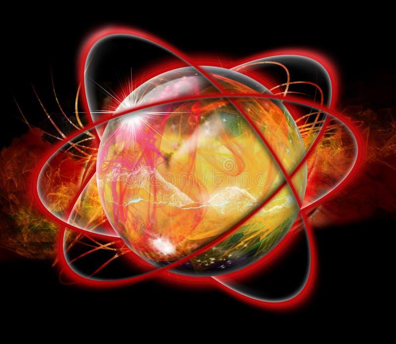 Espiral da esfera ilustração do vetor