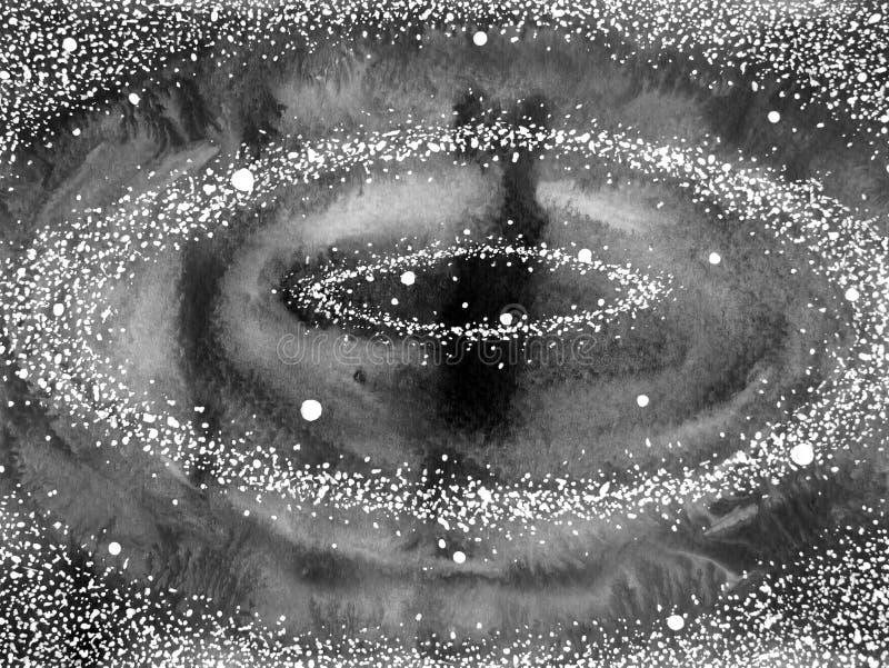 Espiral da ilustração da pintura da aquarela do universo da arte abstrato ilustração royalty free
