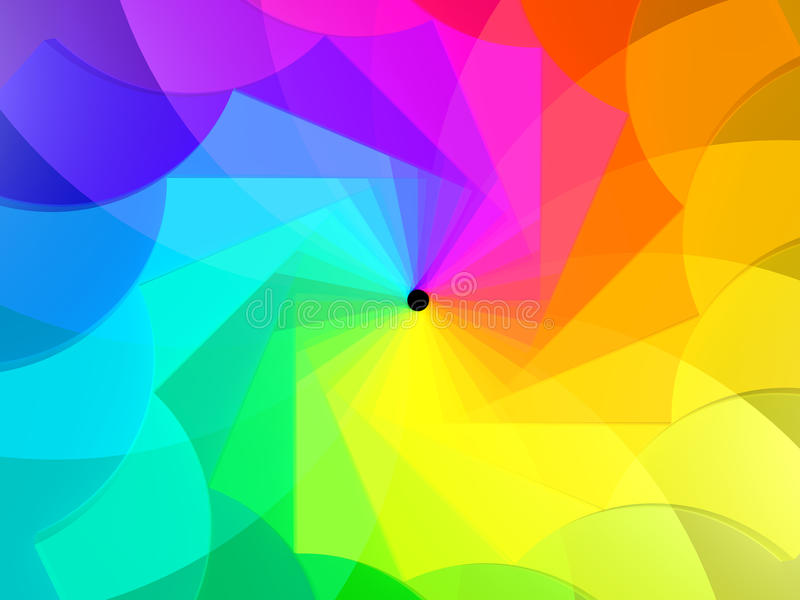 Espiral das cores ilustração stock