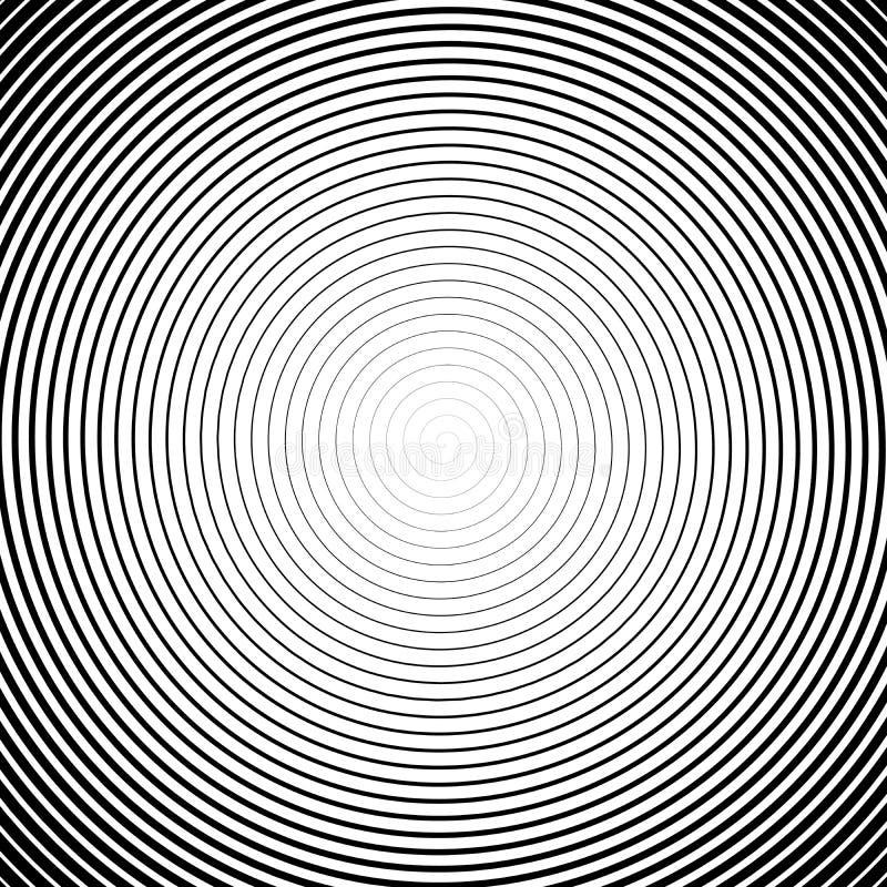 Espiral de alta densidad Efecto de Halfotne Ejemplo blanco y negro del vector ilustración del vector