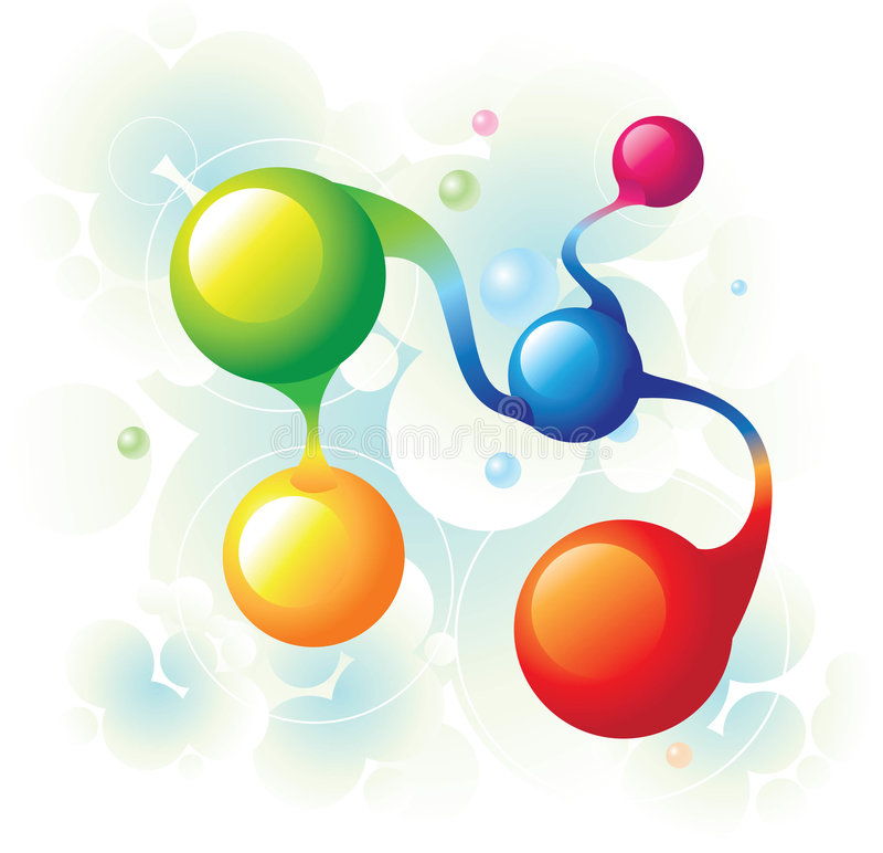 Espiral de la molécula ilustración del vector