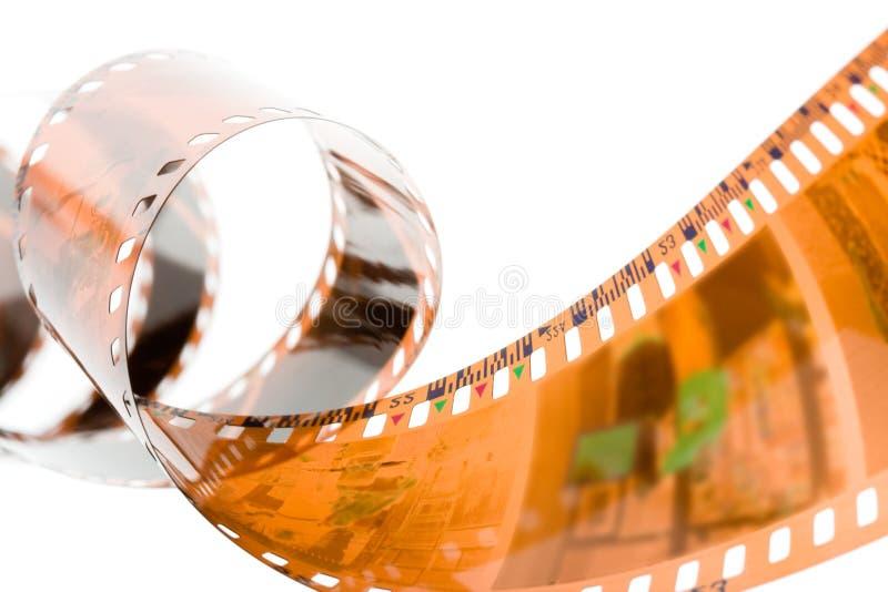 Espiral de la tira de la película fotos de archivo