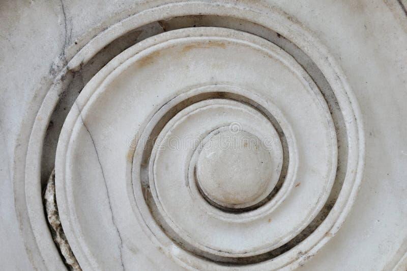 Espiral de mármore antiga fotografia de stock
