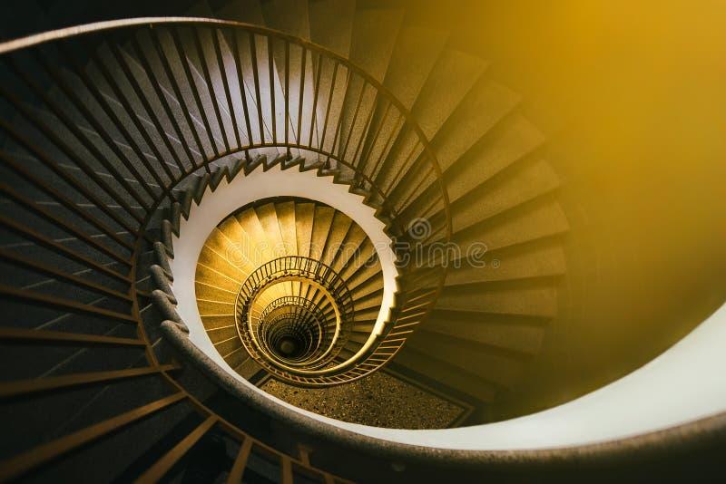 Espiral de oro imágenes de archivo libres de regalías