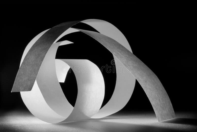 Espiral de papel imagens de stock royalty free
