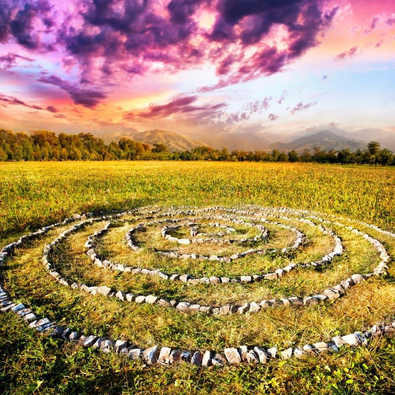Espiral de pedra fotografia de stock royalty free