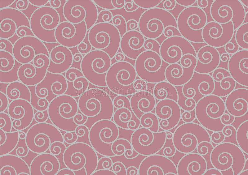 Espiral de plata que repite el fondo inconsútil del vector del modelo ilustración del vector