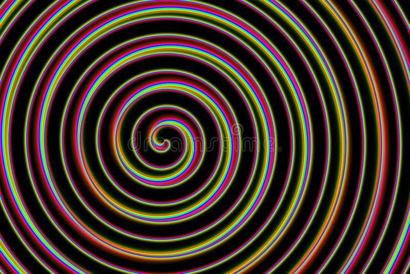 Espiral del arco iris stock de ilustración