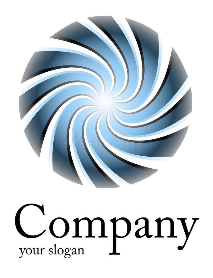 Espiral del azul de la insignia ilustración del vector