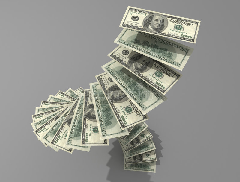 Espiral del dólar ilustración del vector