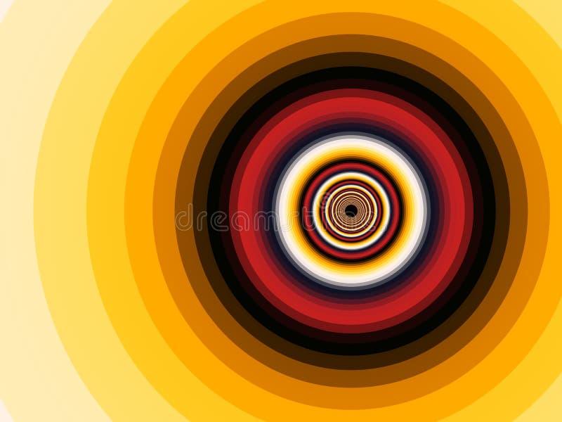 Espiral del fractal ilustración del vector