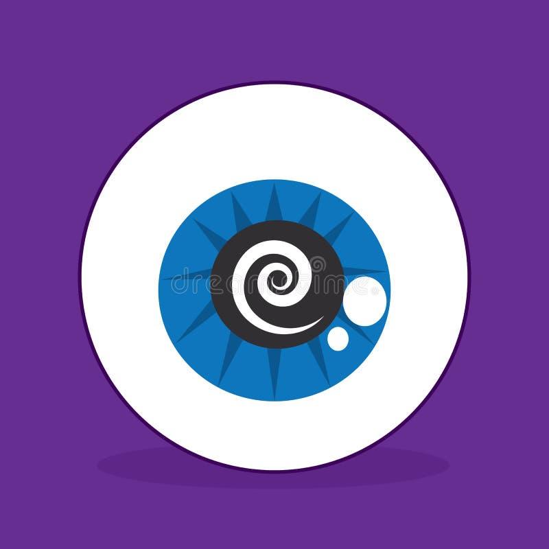 Espiral del globo del ojo stock de ilustración
