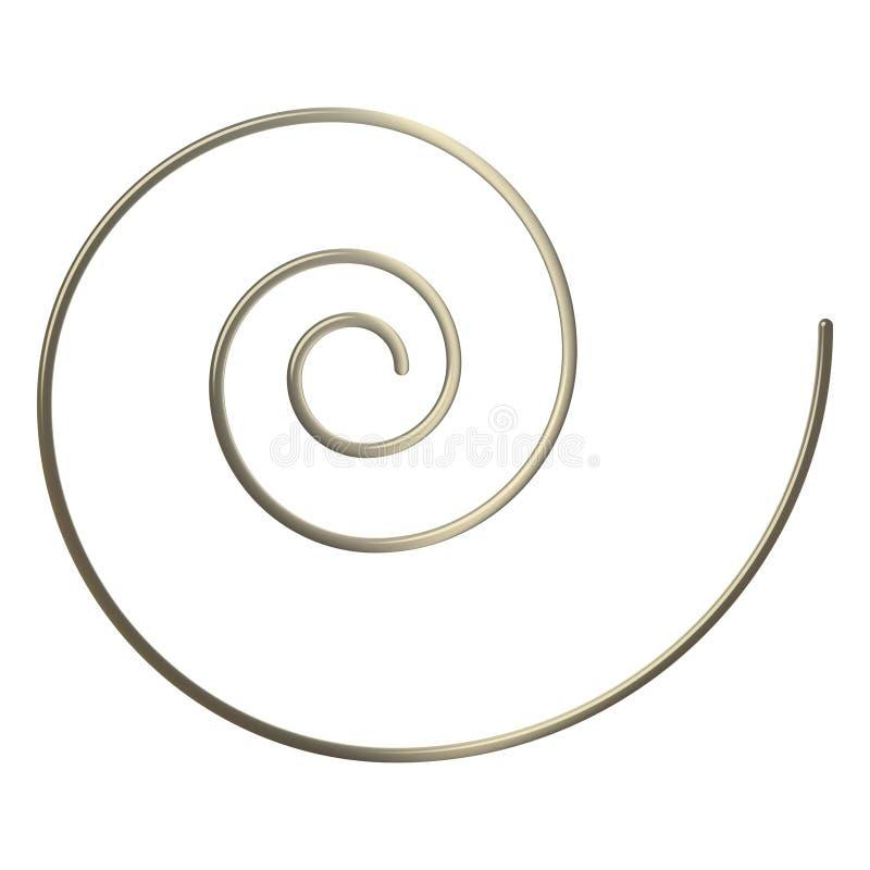 espiral del oro 3d ilustración del vector