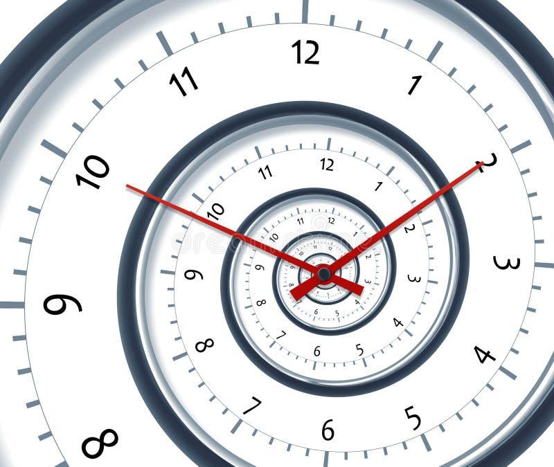 Espiral del tiempo stock de ilustración