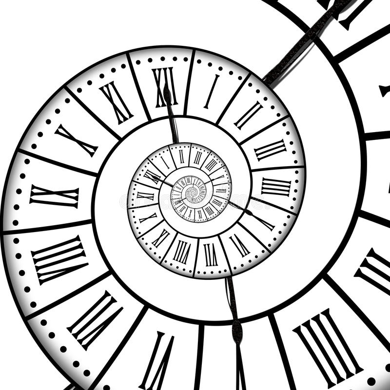 Espiral del tiempo, aislado en blanco stock de ilustración
