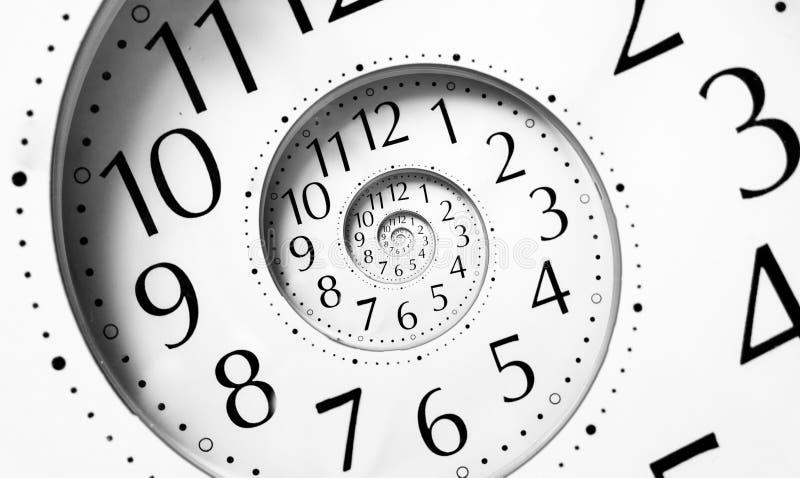 Espiral del tiempo del infinito imágenes de archivo libres de regalías