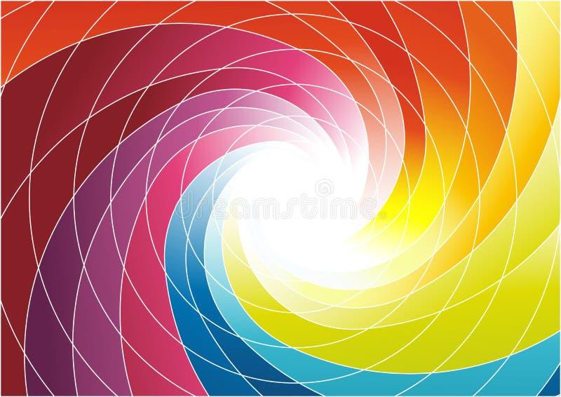 Espiral do arco-íris - fundo colorido brilhante ilustração stock
