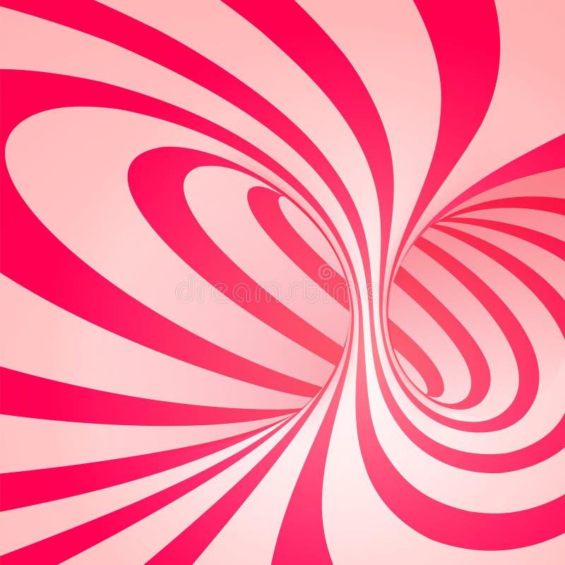 Espiral do bastão de doces ilustração do vetor