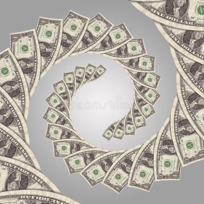 Espiral do dinheiro do fluxo de caixa ilustração royalty free