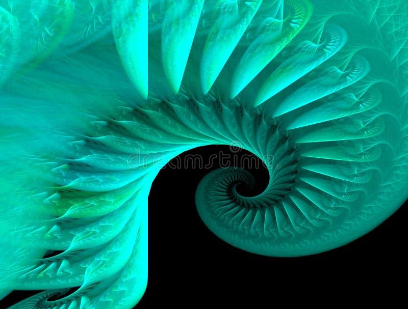 Espiral do Fractal ilustração royalty free