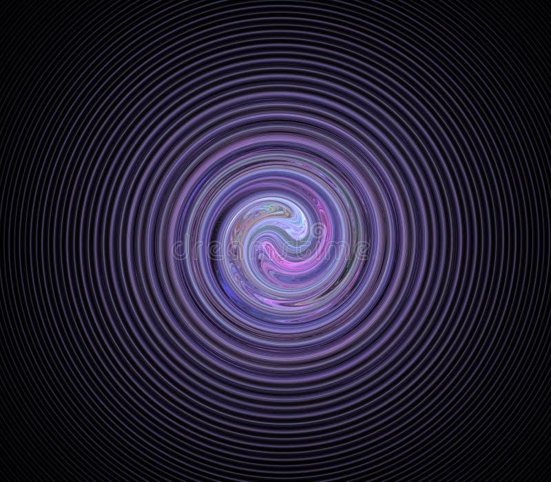 Espiral do Fractal imagens de stock