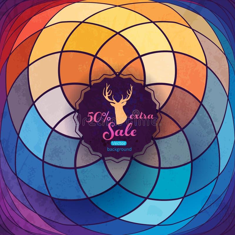 Espiral do molde do vetor, flor geométrica Molde abstrato, bri ilustração stock