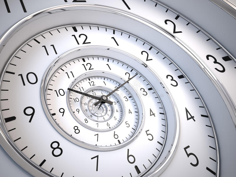Espiral do tempo da infinidade ilustração royalty free