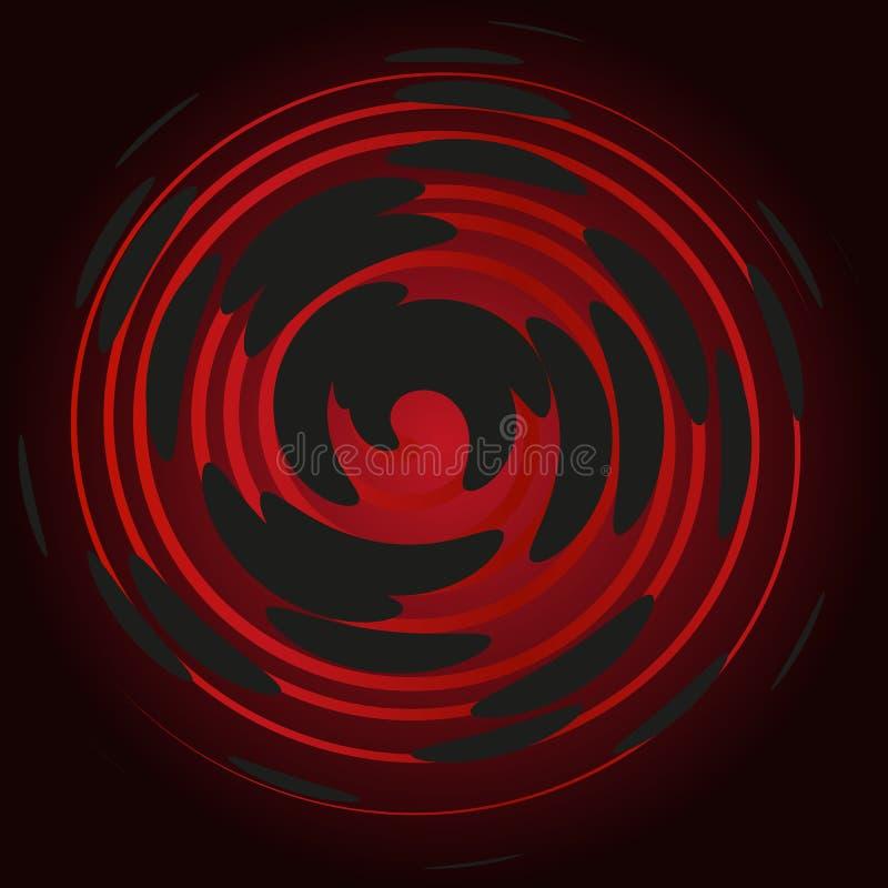 Espiral em um fundo preto, abstração do Bordéus fotografia de stock