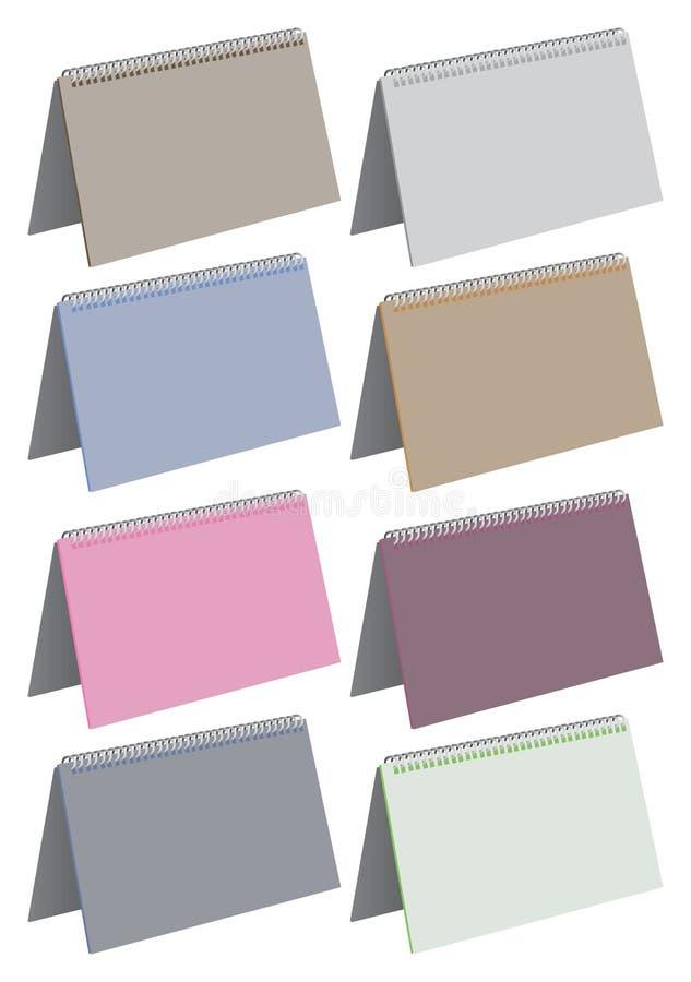Espiral en blanco - vector encuadernado de los cuadernos de notas stock de ilustración