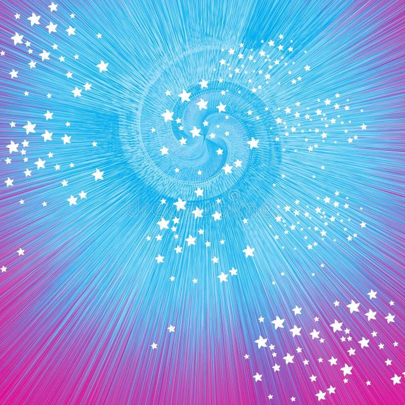 Espiral estourada com estrelas ilustração stock