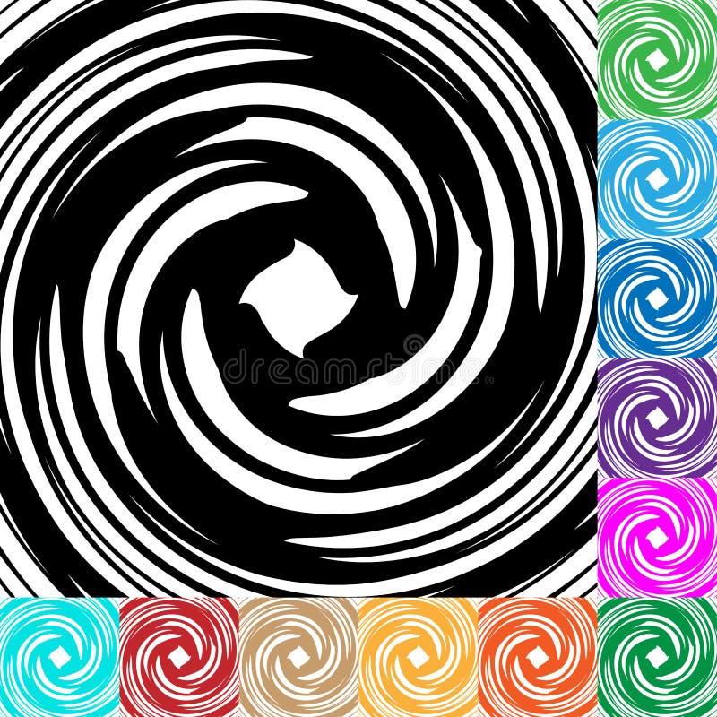Espiral, fundo do redemoinho em muitas cores Patt de giro circular ilustração do vetor