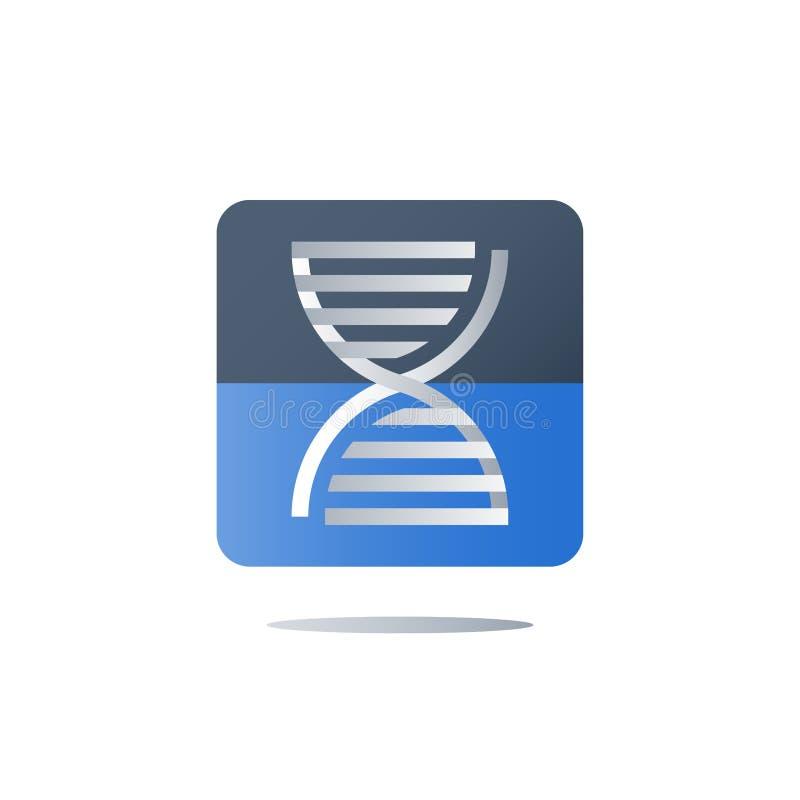 Espiral genética, testes do ADN, exame médico, cuidados médicos, serviços genealógicos da análise, conceito personalizado da medi ilustração do vetor