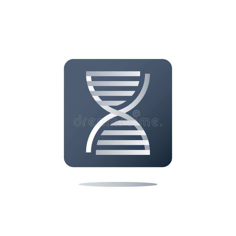 Espiral genética, testes do ADN, exame médico, cuidados médicos, serviços genealógicos da análise, conceito personalizado da medi ilustração royalty free