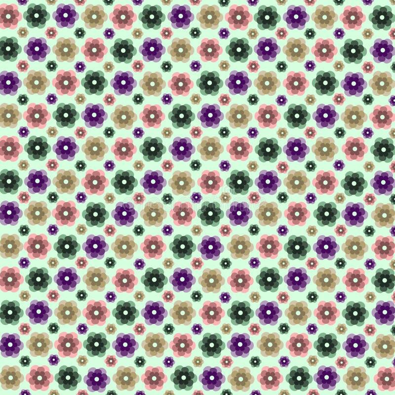 Espiral inconsútil de la decoración del marco del modelo de la flor de la belleza del verano del extracto inconsútil abstracto de stock de ilustración