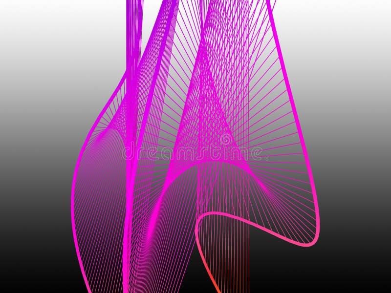 Espiral linear dinámico y brillante con pendiente colorida foto de archivo