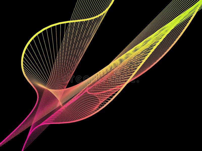 Espiral linear dinámico y brillante con pendiente colorida imagenes de archivo