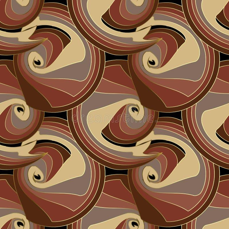 A espiral listrada circunda o teste padrão sem emenda do vetor abstrato Colorfu ilustração do vetor