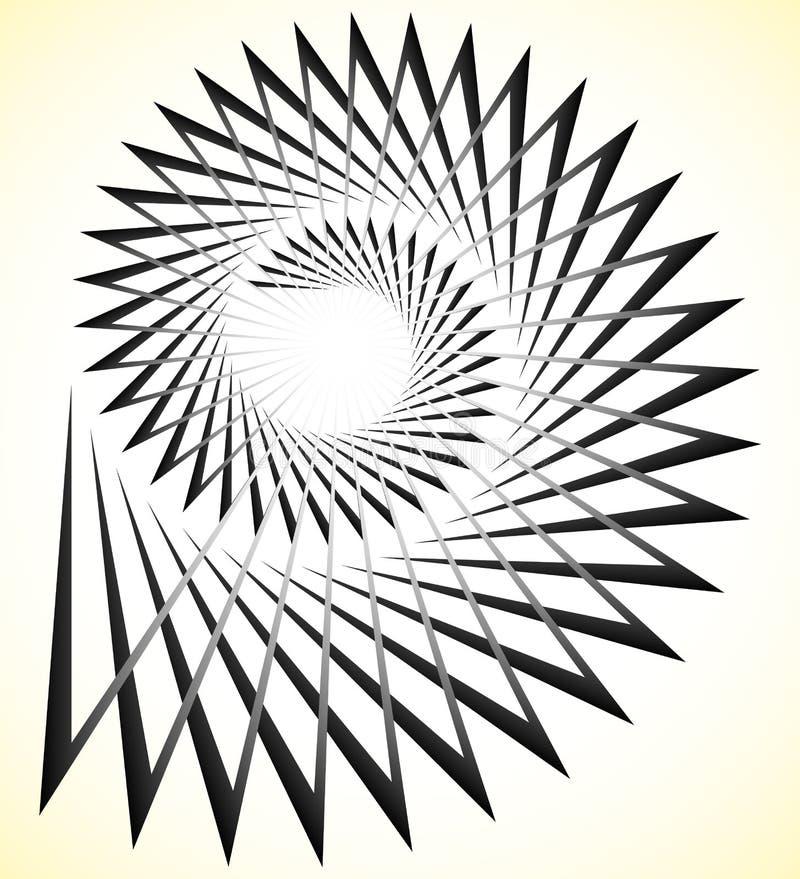 Espiral nervosa abstrata, volute com formas triangulares ilustração royalty free