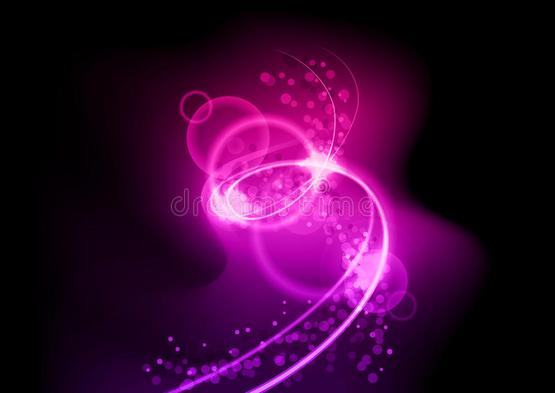 Espiral púrpura stock de ilustración