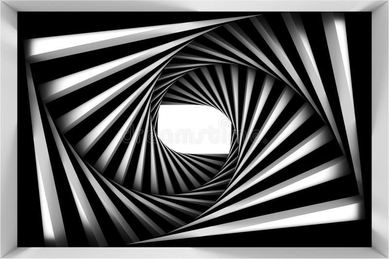 Espiral preto e branco ilustração royalty free