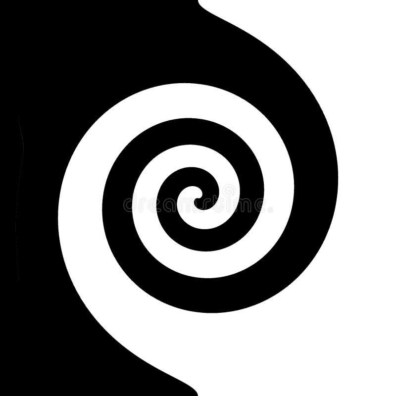 Espiral preto e branco ilustração do vetor