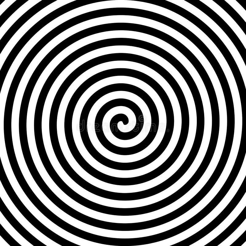 Espiral preto e branco da hipnose ilustração royalty free