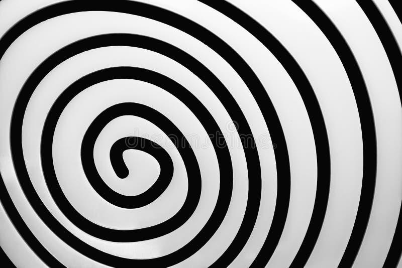 Espiral preto e branco simples ilustração do vetor