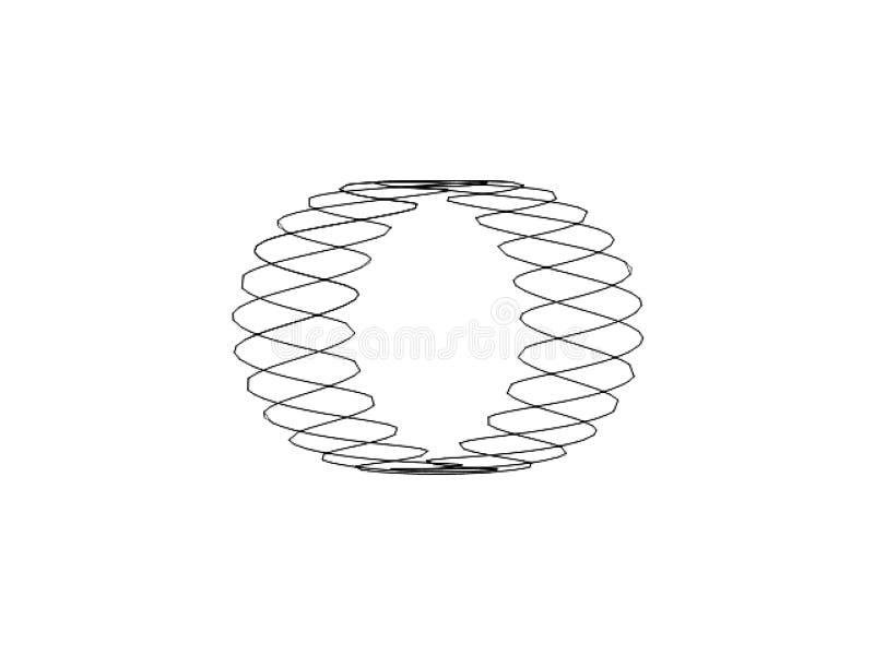 Espiral Ring Shape del vector de Digitaces imagen de archivo